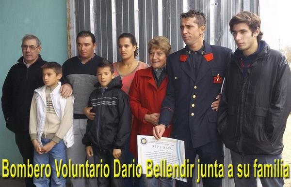 Bombero Dario Bellendir rescata a funcionario provincial