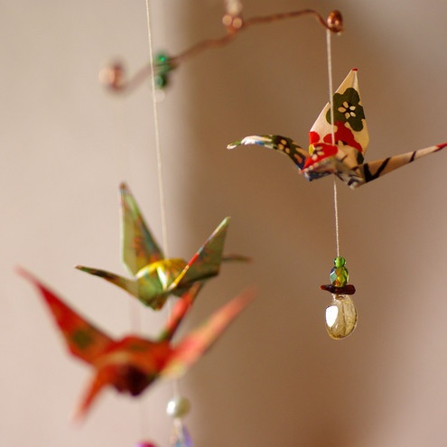 Mobile Origami crane spectacle! - Folksy