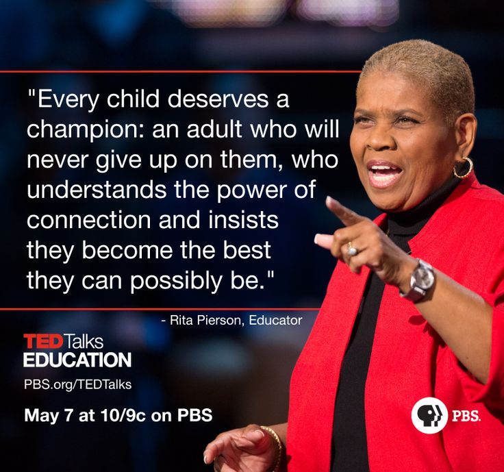 """Rita Pierson will give a talk called """"Every kid needs a champion"""" during our first television special, TED Talks Education"""