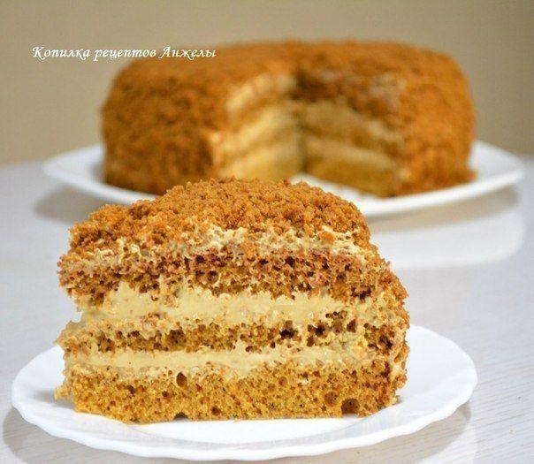 Medový dort s krémem