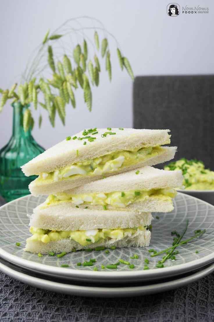 Avocado-Curry-Eiersalat Sandwich