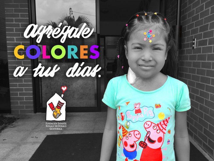 DISFRUTA LA MAÑANA CON UNA SONRISA Y MUCHOS COLORES. Clarita saliendo de Casa Ronald McDonald para recibir su tratamiento de hemodiálisis en el hospital, nos enseña que todo es cuestión de ACTITUD.  #ForRMHC #CasaRonaldMcDonald #Guatemala #colores #niños