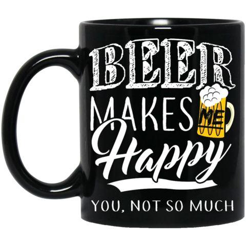 Beer Makes Me Happy Black Mug https://www.soulpirates.shop/collections/beer-lovers/products/beer-makes-me-happy-black-mug #soulpiratesshop #instabeer #ilovebeer #beer #craftbeer #craftbeerhour #beerporn #homebrew #beergasm #beergeek #beernerd #beerstagram #beerlove #beerlover #beerme #beertime #design #apparel