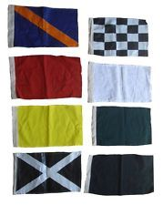 """Set of 8 Racing Flags Race NASCAR Signal Set - 14"""" X 18"""" - 100% Cotton"""