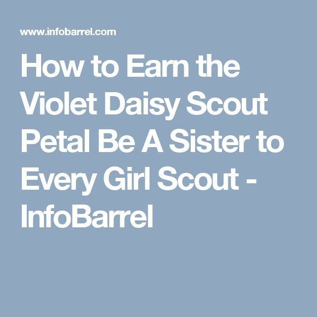 How to Earn the Violet Daisy Scout Petal Be A Sister to Every Girl Scout - InfoBarrel