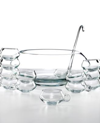 Libbey Glassware, Moderno 14 Piece Punch Bowl Set | macys.com