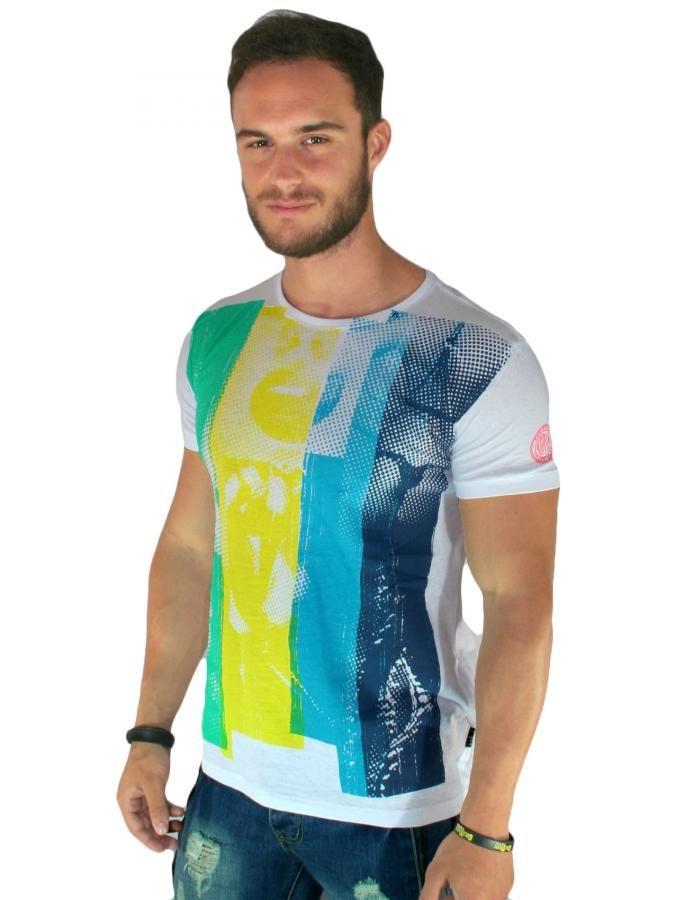 REPLAY Slim fit μπλούζα, πολύχρωμα τυπώματα