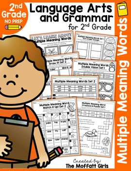 Grab the MEGA 2nd Grade NO PREP Language Arts and Grammar GROWING BUNDLE!***GRAB the MEGA Bundle at a DISCOUNTED special buy in price*** HERE**Dictionary Skills NO PREP Packet Includes:*Multiple Meaning Words:*Lets Learn about Multiple Meaning Words (Cover Page)*Multiple Meaning Words Cut and Paste*Multiple Meaning Words Set 1 Ice Cream Scoops*Multiple Meaning Words Set 2 Ice Cream Scoops*Multiple Meaning Words Match it Up Set 1*Multiple Meaning Words Match it Up Set 2*Multiple Meaning Words…