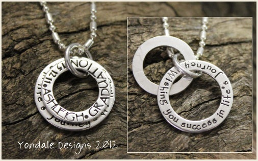 YONDALE DESIGNS Personalised Hand Stamped Silver Jewellery