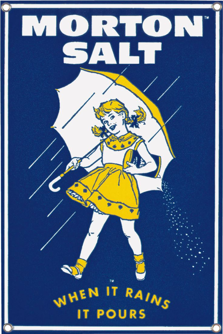 Morton Salt 1956 | Food Porcelain Signs | Tin Signs | American Heritage Tin Sign Factory | Tin Signs Americana | Soda Tin Sign | Automotive Tin Signs | Vintage Tin Sign