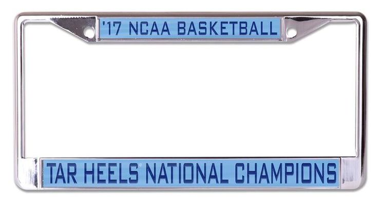 North Carolina Tar Heels NCAA 2017 National License Plate Frame