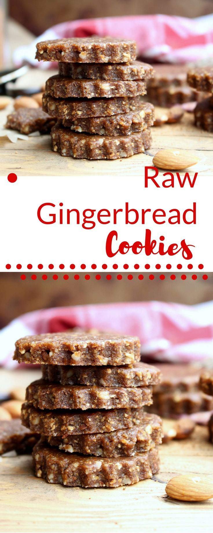 Healthy | vegan cookies | gingerbread | raw desserts | Make these vegan gingerbread cookies when you need to satisfy your gingerbread craving quickly! Gluten free and with no refined sugar, these raw treats are perfect for snack or dessert!