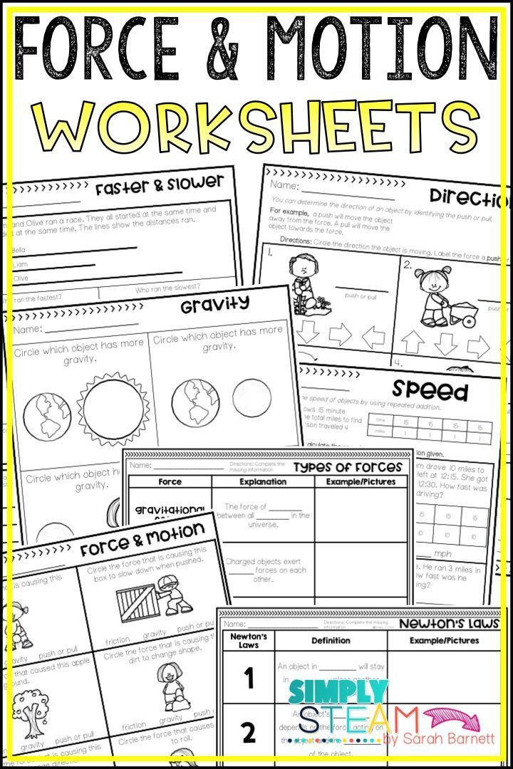 picture relating to Force and Motion Printable Worksheets referred to as Strain and Movement Worksheets Starting off of 12 months Tension