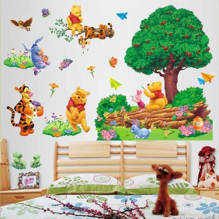 Attractive Entfernbarer Winnie The Pooh Baum Wandaufkleber Kinder Kindergarten Zimmer  Vinyl Ideas