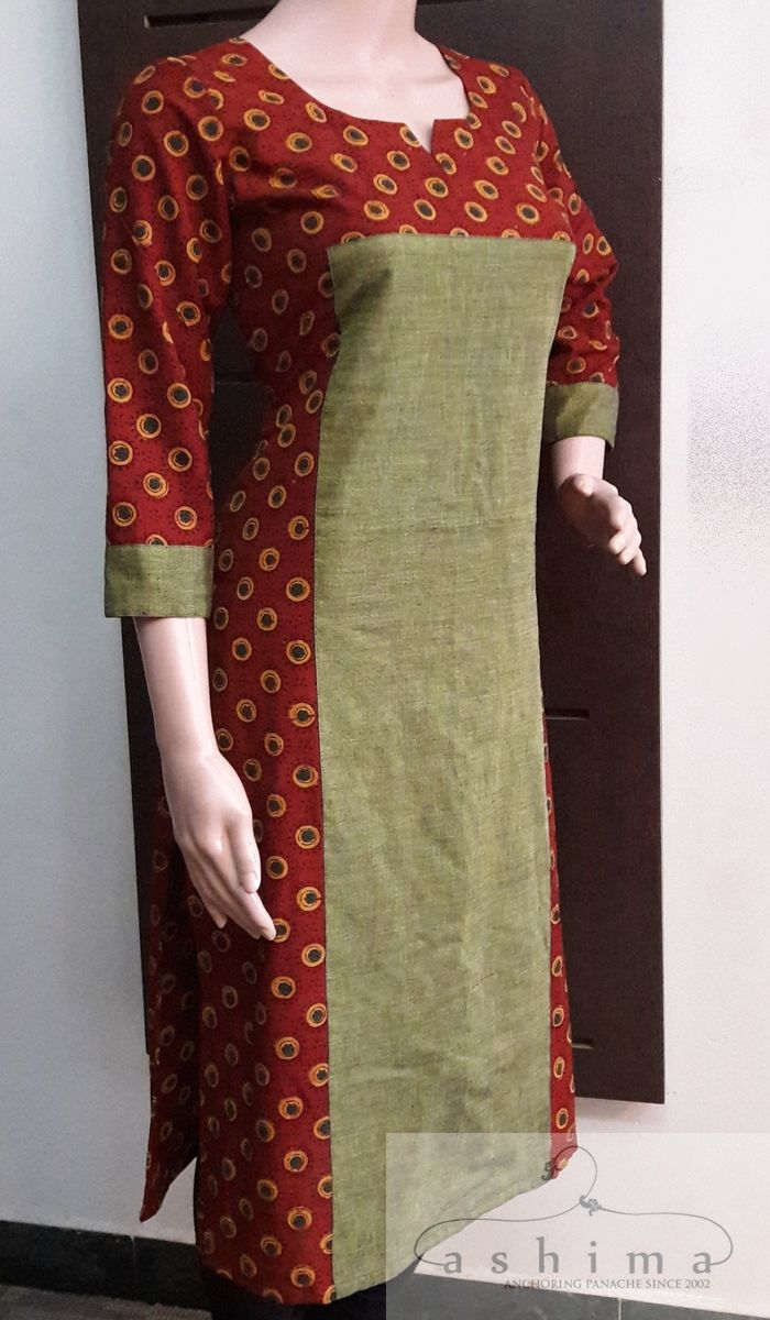 Code:1409170 - Price INR:1900/-, Ajrak Printed Cotton Kurti.