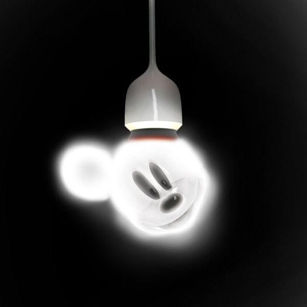 Let's Screw Mickey!  MM LED light bulb, also in three different colors!  Pink, Blue, and Gray.