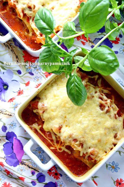 cannelloni, mięso mielone, makaron, bernika, kulinarny pamietnik