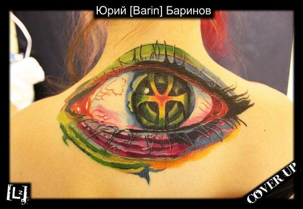 COVER-UP. Глаз #tattoo #tattoo_artist #artist #Barin #color #expression #style #master #russia #тату #татуировка #татуировщик #Юрий_Баринов #экспрессия #цвет #стиль #спб #питер #мастер