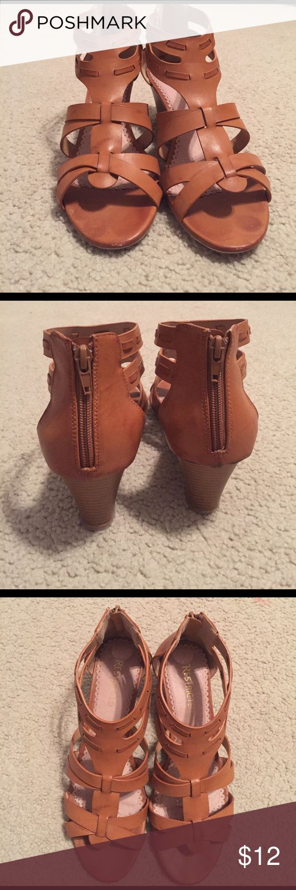 Comfy shoes 👠 These shoes are very comfortable and they have a nice sized heel. Restricted Shoes Wedges
