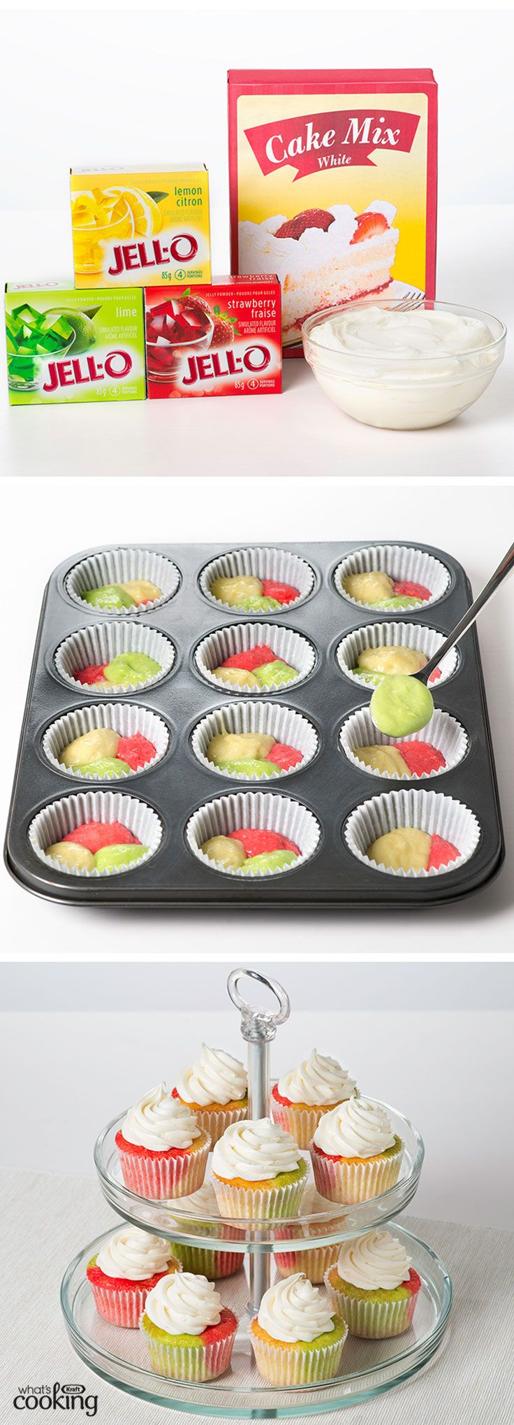 Tie-dye Fruity Cupcakes #recipe - Super cool and super tasty, these easy cupcakes are a hit with kids and adults alike. Tap or click photo for recipe.
