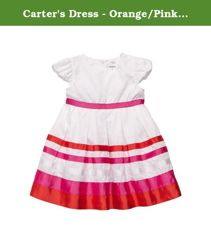 Carter's Dress - Orange/Pink Stripe-3 Months. Carters Dress - Orange/Pink Stripe Carter's is the leading brand of children's clothing, gifts and accessories in America, selling more than 10 products for every child born in the U.S. The designs are based on a heritage of quality and innovation that has earned them the trust of generations of families. .