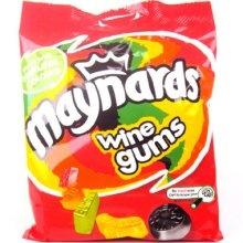 Maynard's Wine Gums from the UK and Canada.