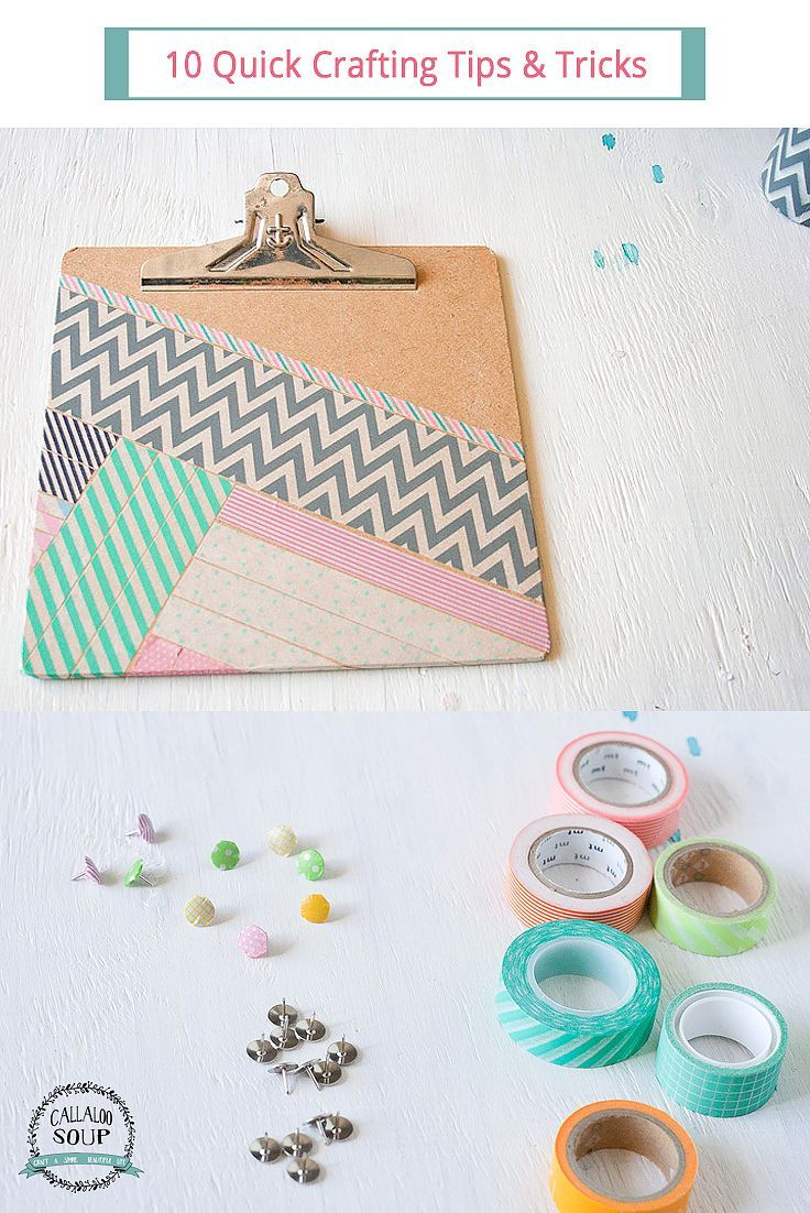 10 Quick Crafting Tips & Tricks - Spruce up your home with these DIY tips for decor and organization.