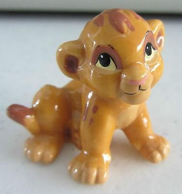Rare Disney Store The Lion King Baby Simba Cub Ceramic