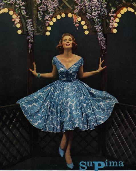 Платье 50 годов 20 века