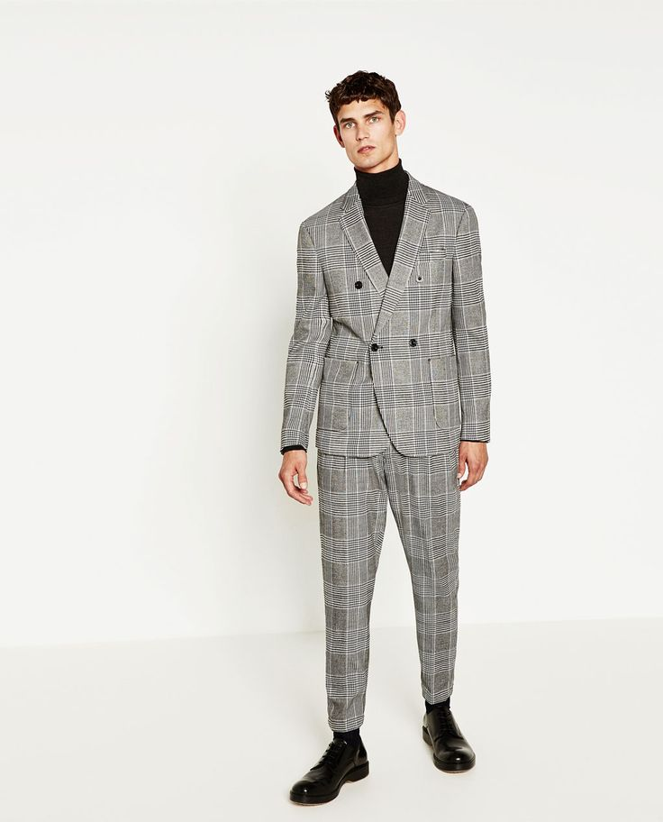 Image 1 of CHECKED SUIT from Zara