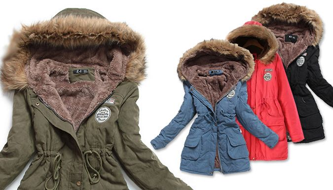 Buy: Winter Parka With Faux Fur Hood -  4 Colours for just: £19.99 Embrace the autumn with the Winter Parka With Faux Fur Hood      Available in green, black, red or blue      Choose from 4 sizes: S, M, L (see Full Details for size guide)      Hood will keep you protected from the rain and faux fur adds a cosy touch      Made from polyester blend materials      The perfect way to stay wrapped...