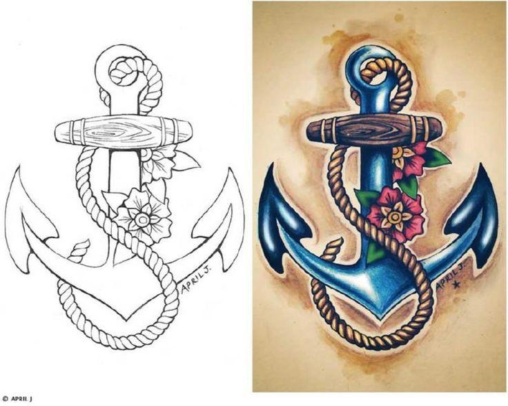 Морские татуировки | Тату моряков | Значения | 48 фото и эскизов