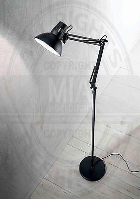 MIA  Stehleuchte, Büro, Schwarz, 1 x 60W E27 / 240V 2