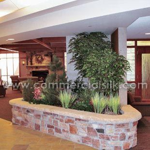 Commercial Silk Int'l was contracted to provide the artificial plant and tree materials as well as full installation services. Working closely with hospital staff, the design team at CSilk Int'l specified many northwoods inspired tree & plant materials, including artificial Birch trees, Aspen trees, Pine trees, Privet bushes, Flowering Dogwood bushes, and artificial grasses…