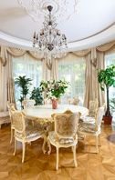 "Dining room by Tatiana Bozhovskaya's ""Studio Exclusive Interior"".  Furniture by Fratelli Radice"