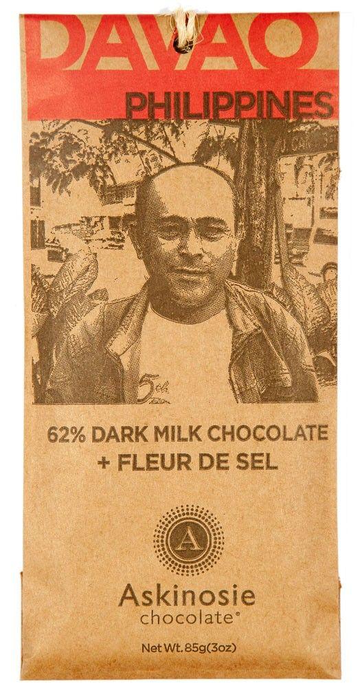 62% Dark Milk Chocolate + Fleur de Sel Sea Salt Bar