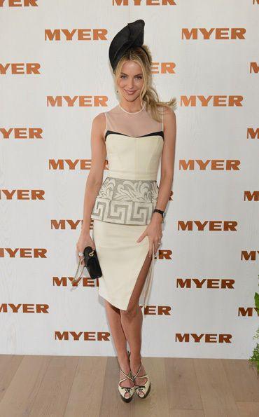 Derby Day Celebrity Fashion - Jen Hawkins looking fabulous again...