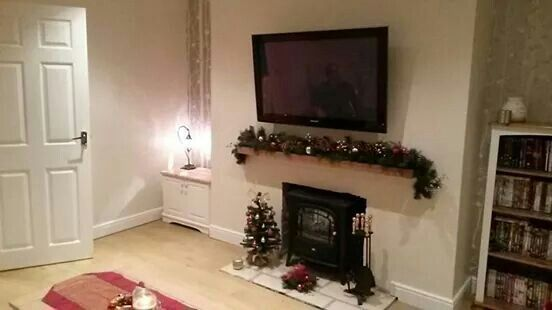 Lounge decorated for Christmas 2013