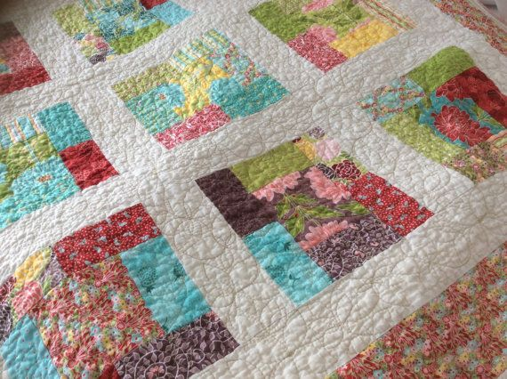 Chantilly Baby Quilt or Lap Quilt in Soft by BusyBeeQuiltCo