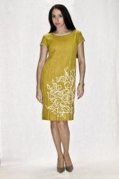 Купить оптом эксклюзивные льняные платья от ивановского модельера