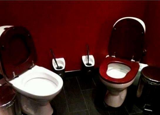 Göz göze tuvalet keyfi, çok güzel romantik.