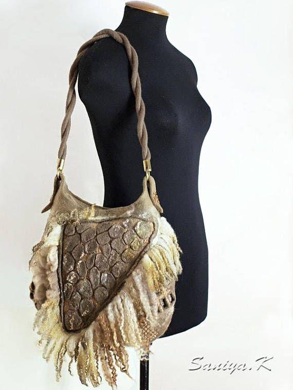 Felted Bag Felt Handbag Purse Art Handbag Art bag Felt