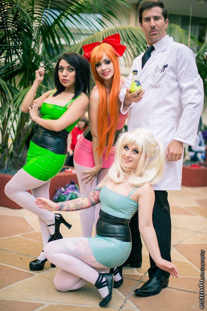 Latex Power Puff Girls | #ALA Anime Los Angeles 2014