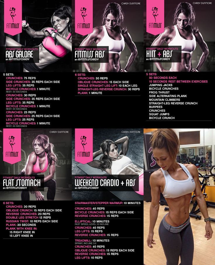 Get a head start on your beach body with these 5 extremely effective ab workouts designed and used by FitMiss athlete Chady Dunmore. - Life And Shape