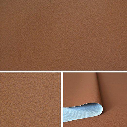 Skaï simili cuir Brun Clair tissu au metre, tissu d'ameublement T073 08