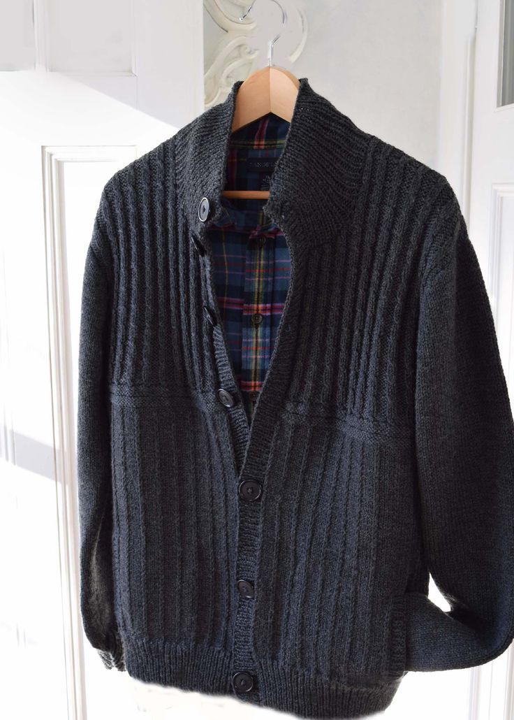 A men's jacket cardi for those cool Fall mornings.