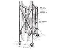Rolling scaffold storage