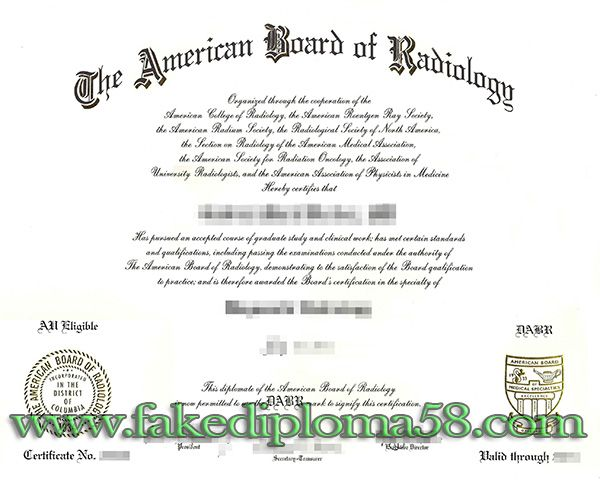 American Board Of Radiology Abr Degree Doctor License
