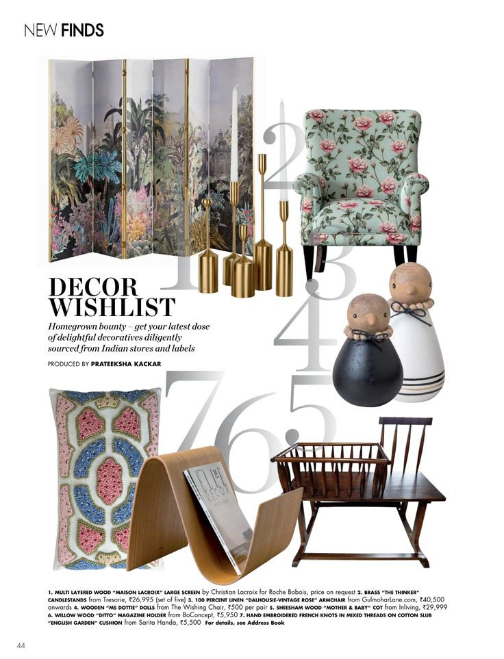 Homegrown bounty—get your latest dose of delightful decoratives diligently sourced from Indian stores and labels. Thank you ELLE DECOR India for featuring our Dalhousie Armchair in Vintage Rose Country Garden.