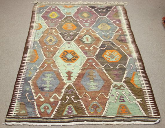 Handmade Vintage Kilim Rug 82x50 Feet Area Floor By Damgadecor